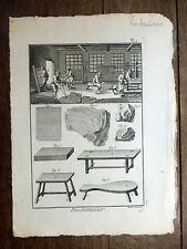 Encyclopédie Diderot D'Alembert 1 planche PARCHEMINIER Parchemin 18e s.