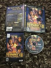 PS2 Playstation 2 Romance VIII Of The Three Kingdoms CIB Complete