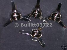 2005 2006 2007 2008 2009 FORD MUSTANG WHEEL SPINNERS CENTER CAPS 4 PIECE SET
