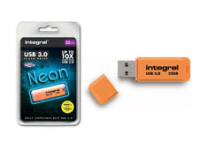 Integral 32GB Neon USB 3.0 Flash Drive in Orange - Up To 10X Faster Than USB 2.0