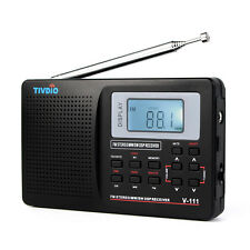 MW/ FM/ SW Portable Stereo Radio DSP Full Band Pocket World Receiver Clock Alarm