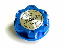 VMS RACING BLUE SUPERCHARGED CNC ENGINE OIL FILLER CAP FOR 12-16 FORD FOCUS ST