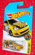 Hot Wheels Art Cars Volkswagen Golf MK7  DTX92-D9B0A  A case