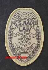 COMMEMORATIVE US NAVY LAW ENFORCEMENT HAT PATCH MILITARY POLICE SECURITY PIN UP