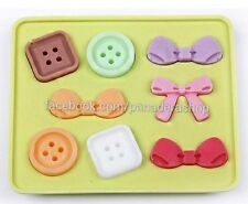 Buttons and Ribbons Fondant Silicone Chocolate Molder Jelly Silicon Mold