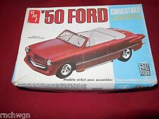 Vintage AMT 1950 Ford Convertible street rod Kit Unbuilt T353 '70s Issue 50 Ford