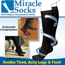 New Anti Fatigue Miracle Socks Firm Black Compression Energy Sox Therapeutic S/M