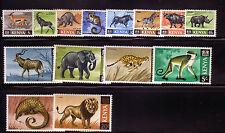 Kenya: 1966 -1969 Scott Nº 20 -35 (-28, 31) NH, Rust Stain, Fauna. KE05