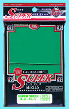 80 KMC SUPER GREEN Standard Size Card Barrier Sleeve NEW MTG Full Deck Protector