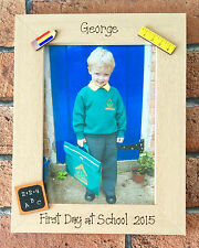 Handcrafted Personalised 1st Day at School Photo Frame Gift Present