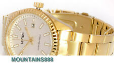 LORUS Watch, Date, Stainless Steel, WR50, Gold Tone, Mens, RH994DX-9