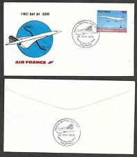 1979 Philippines First Day Cover - Air France - Concorde Airplane