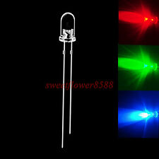 100 pcs 5mm RGB Fast Flash Rainbow MultiColor Red Green Blue LED Free Shipping
