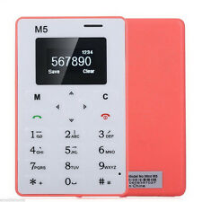 M5 Bar Phone Alarm Clock 128M Storage Thin Mini Pocket Card Girl Boys Cell