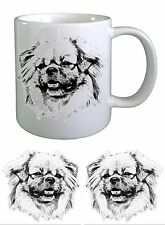 Tibetan Spaniel Dog Sketch Ceramic Mug by paws2print