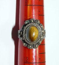 Vtg Secret Hidden Compartment Victorian Art Nouveau Poison Ring Size 10.5 b10
