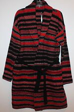 Polo Ralph Lauren Womens Black Red Striped Belted Cardigan Sweater NWT $275 S