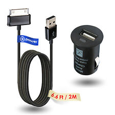 "CAR USB USB Ac Adapter Charger for SAMSUNG Galaxy Tab 2 10.1"" GT-P5100 Data cord"