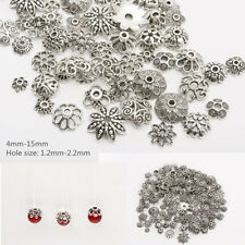 45g (about 150PCS)  Mixed Tibetan Silver Spacer Beads Caps  FOR Jewelry makings