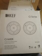 "KEF CI160ER 6.5"" 2-Way In-Ceiling/In-Wall Home Speakers (PAIR) *NEW*"
