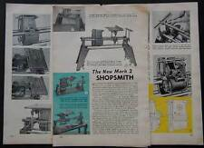 Shopsmith Mark 2 & 5 1958 article & Sidewalk Jeep How-To build PLANS