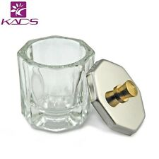 Crystal Glass Bowl Cup with Lid Crystal Glass Dish Nail Art Tools Nail Equipment
