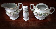 Bristol Fine China Spring Blossom Creamer, Sugar Bowl, Salt or Pepper Shaker