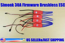 4PCS Simonk 30Amp 30A Firmware Brushless ESC w/3A 5V BEC For DJI F450 Quadcopter