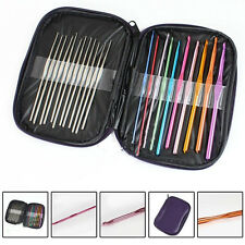 stainless steel 22pcs Set Multi-colour Crochet Hooks Needles Knit Weave Craft