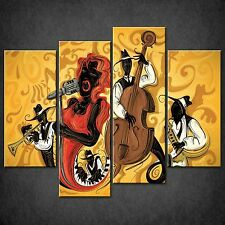 ABSTRACT JAZZ MUSIC SPLIT CANVAS WALL ART PICTURES PRINTS LARGER SIZES AVAILABLE