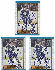 1989 OPC #277 Dan Daoust Toronto Maple Leafs Autographed Hockey Card