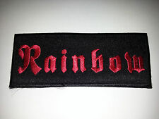 PUNK ROCK METAL MUSIC SEW ON / IRON ON PATCH:- RAINBOW
