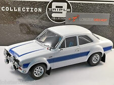 Ford escort Mk1 RS2000 en blanc/bleu échelle 1/18 modèle par triple 9 collection