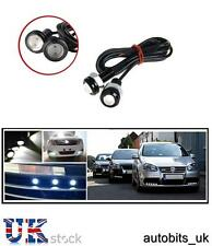 2x 12V 10W LED EAGLE EYE DAYTIME RUNNING DRL FOG WHITE LIGHT BACKUP CAR BIKE