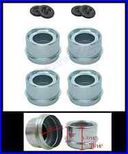 "(4) Trailer 1.98"" EZ Lube Grease Hub Cover Dust Cap w/Rubber Plug FREE SHIPPING"