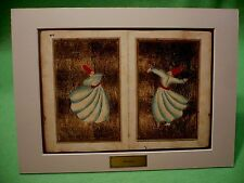 Turkish Dersaadet art prints of DERVISHES and their rituals.' MEVLANA ' & story