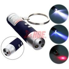 3-in-1 Laser Beam Pointer Pen - LED Flashlight UV Torch IR Infrared Keychain Fob