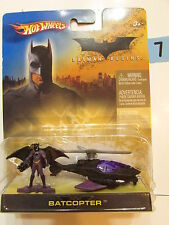 HOT WHEELS 2005  BATMAN BEGINS BATCOPTER  WITH FIGURE
