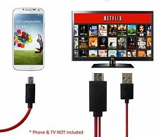 Micro MHL 2 HDMI HDTV Adapter Cable 4 Galaxy S2 4G Virgin Boost Mobile SPH-D710