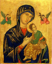 Handpainted Oil painting portraits Our Mother of Perpetual Help Madonna & child