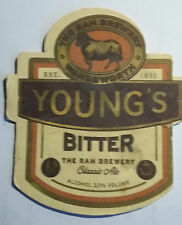 BEER MAT PRODUCED FOR YOUNG'S RAM BREWERY IN WANDSWORTH