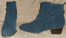 M&S Autograph blue genuine suede Ankle boots 7