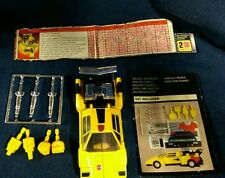 Takara Transformers Sunstreaker G1 Action Figure 100% complete weapons booklet