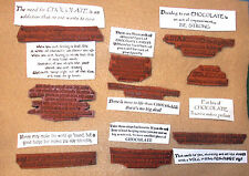 Chocolate word stamps lot rubber stamp assortment humor funny sayings witty unm