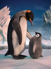 3D Lenticular Picture Penguin Mother With Baby Chick 39x29 cm approx New