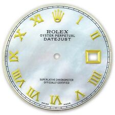 Rolex Mens Datejust 2 Two Tone White MOP Mother Of Pearl Roman Numeral Dial