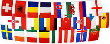 Euro 2016 Flag Bunting - 6m Length 24 Country Nations Teams Flags Pubs Bars IE