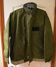 USCG Extreme Cold Weather Impermeable Jacket Alpha Industries Size Large, Sitka