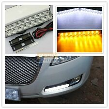 Pair of 18 LED Add on Universal Fit 10 Inch Day Time Running Light/Amber Turning