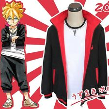 Anime Naruto BORUTO UZUMAKI Cosplay Costumes Jacket Zip Sweatshirt Coat S-XL